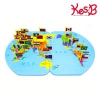 세계지도 깃발 만국기 놀이세트