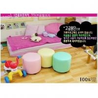 어린이용 1인용 원형 보조의자/색상별