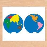 C0208 세계지도 퍼즐 A