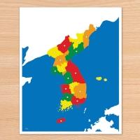 C0209 대한민국 지도 퍼즐