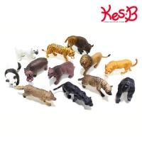 애니멀킹덤 사파리동물 12pcs   캐스B네이처