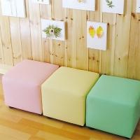 어린이용 1인용 사각 보조의자/색상별
