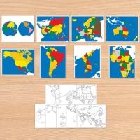 C0211 지도퍼즐 정정판 - 영어판