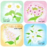 꽃 미끄럼방지테이프(4개 1set)  [욕실용품]