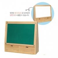 고무나무 영아 양면 서랍칠판SBR01