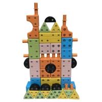 회전자석 벽돌블럭72p /키즈 창의블럭(영아용)