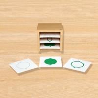 C0196 나뭇잎 도형 카드와 상자