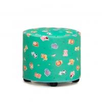 어린이용 사파리 1인용 원형 보조의자/색상별