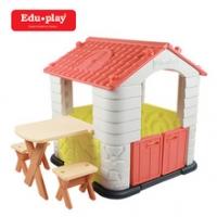 에듀플레이하우스2 (집&테이블&의자세트)(코랄)