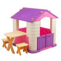 에듀플레이하우스2(바이올렛) (집+테이블+의자세트)