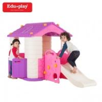 에듀플레이하우스3 놀이집+미끄럼틀세트/3색상