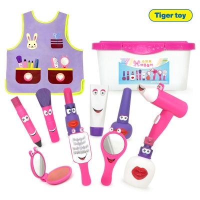 소프트 핑크 미용놀이+미용복(11p)